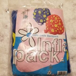 Other - Inflatable Plastic Jelly Bookbag with Happy Faces